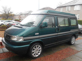 2002 VW T4 Autosleeper Trooper Dragon Green