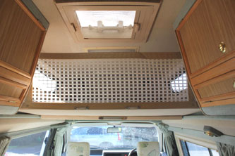 VW T4 Autosleeper Topaz Overcab Roof Bed and Child Safety Net