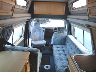 VW T4 Autosleeper Topaz Layout