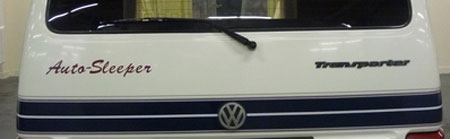 VW T4 Autosleeper Topaz Rear Logo