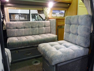 VW T4 AutosleeperTopaz Seating Arrangement