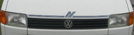 VW T4 Autosleeper Trophy Front Logo