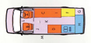 VW T4 Autosleeper Trophy Layout